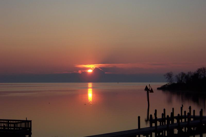 sunrise on Pamlico Sound